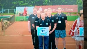 Suomen joukkue USICin Tennismestaruuskisoissa Saksan Nurnbergissä 2015